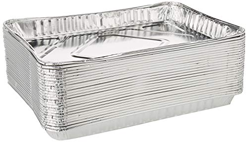 Pack of 25 1/4-Size (Quarter) Sheet Cake Aluminum Foil Pan- Extra Sturdy and Durable - Great for Bake Sales, Events and Transporting Food - 12-3/4