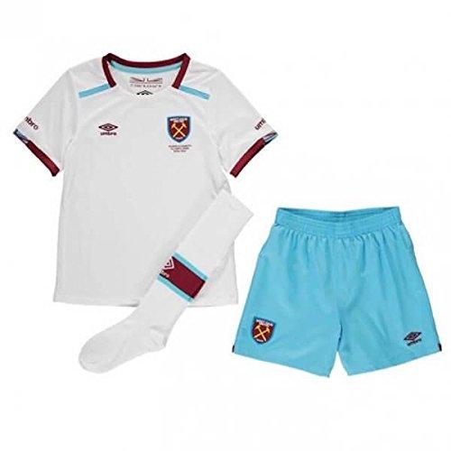(Umbro 2016-2017 West Ham Away Little Boys Mini Kit)