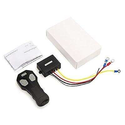 Toogoo 12V Winch Wireless Remote Control Winch+Receiver Kit Switch 100FT DC12V for Jeep Car Truck ATV SUV UTV Warn 43Hz