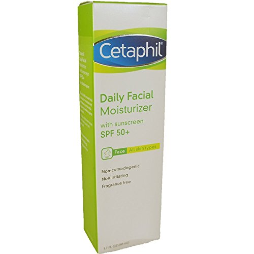 Cetaphil Daily Facial Moisturizer for All Skin Types, SPF 50 1.7 oz Pack of 8