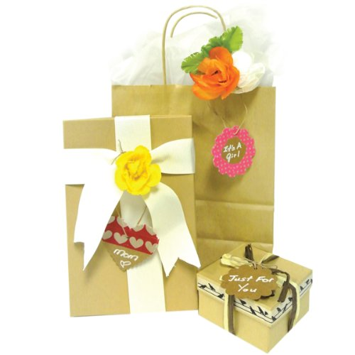 Wrapables 50 Gift Tags/Kraft Hang Tags with Free Cut Strings for Gifts, Crafts & Price Tags - White Original Tag