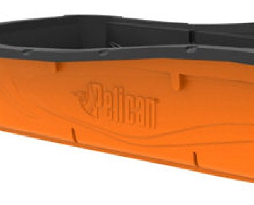 Pelican Utility Trek Sport 68R Sled, Strong and Durable Rugged Towing Sled in Orange/Black, Dimensions 68.875 in. x 30.25 in. x 14.25 in.