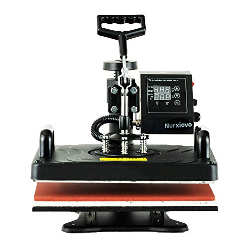 Heat Transfer Machine -SUNCOO 12x15 inches Swing-Away Digital 8 in 1 Heat Press Machine for T-Shirts Sublimation Hot Pressing Machine-Multipurpose Mug/Hat Plate/Cap Press,Combo Kit