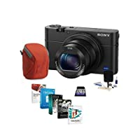 Sony Cyber-shot DSC-RX100 IV Digital Camera, Black - Bundle with 32GB Class 10 SDHC Card, Camera Case, Cleaning Kit, Software Package from Sony