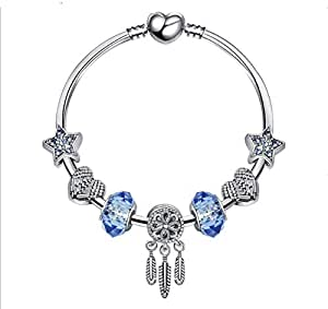 Blue Star Ms. Dream Catcher Bracelet Creative Peach Heart Bracelet Valentine's Day Birthday 18cm