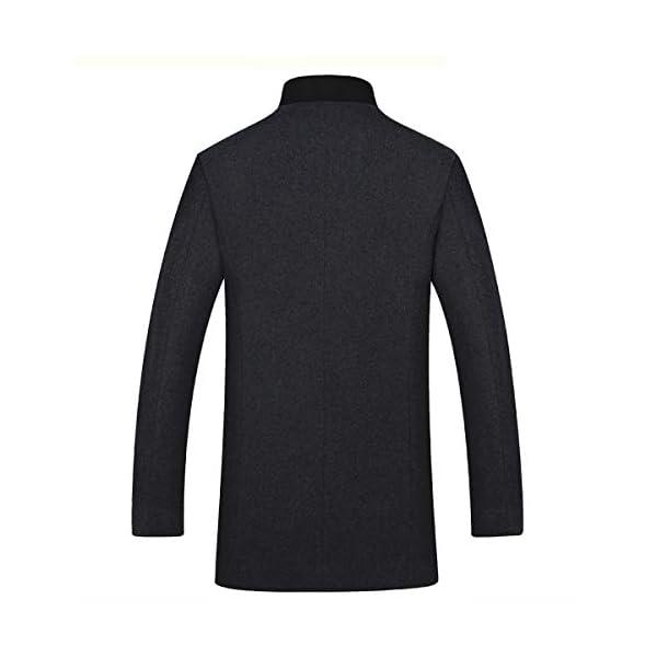 YOUTHUP Manteau Homme d'hiver Laine Veste Chaud Slim fit Trench Coat Manche Longue Blazer Outwear zippé Mode