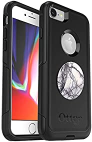 Bundle: OtterBox Commuter Series Case for iPhone SE (2nd gen - 2020) and iPhone 8/7 (NOT Plus) – (Black) + Pop