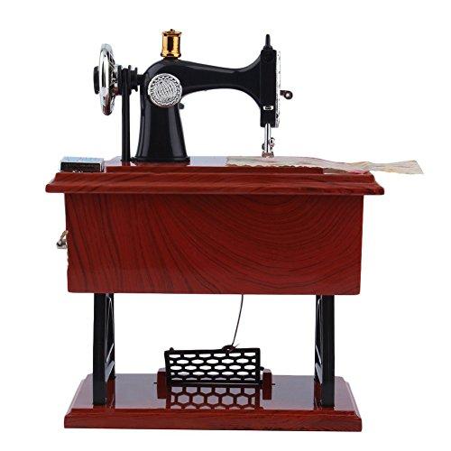 ywbtuechars 1Pc Mini Vintage Lockwork Sewing Machine Music Box Kid Pedal Toy Home Decor Gift Jewelry Organizers - $11.64