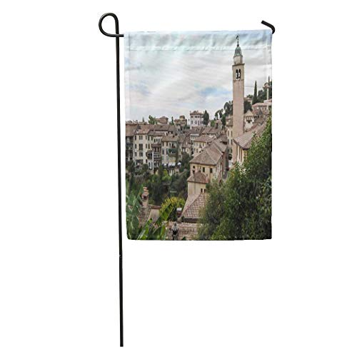 Carl McIsaacDoor Garden Flag City View on Asolo in The Province of Treviso Veneto Home Yard House Decor Barnner Outdoor Stand 12x18 Inches Flag