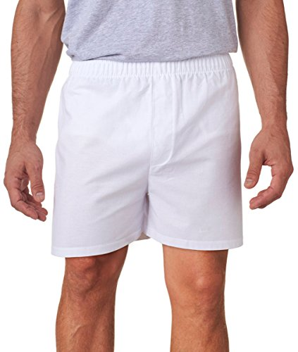 (Boxercraft C11 Adult Signature Cotton Boxers - White - 'S)