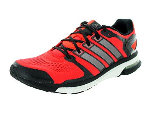 Adidas Adistar Boost ESM Uomo Scarpe 7 grigio scuro-metal-solari gialla che funziona Red / Black