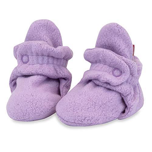 Zutano Newborn Cozie Fleece Bootie 12 mo. Pink//Fuchsia//Pool