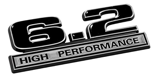 6.2 Liter High Performance Emblem in Black and Chrome