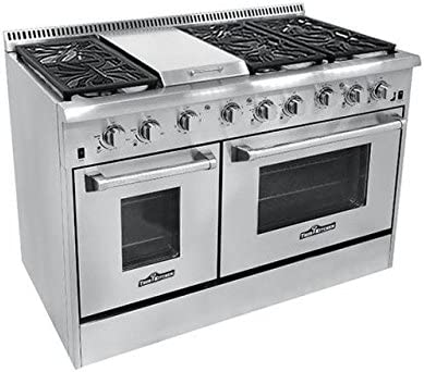 Amazon.com: Thor hrg4804u 6 quemador de gas Rango de cocina ...