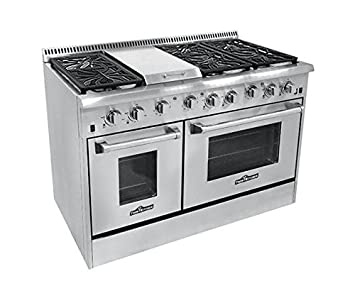 Amazon.com: Thor Kitchen HRG4804U 6 Burner Gas Range with Double ...