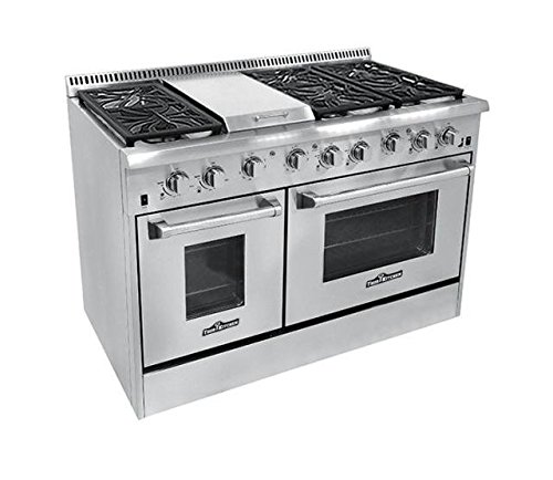 Thor Kitchen HRG4804U 6 Burner Gas Range with Double Oven Freestanding Slide In Range