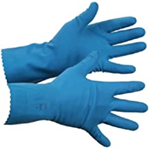 """Ansell Natural Blue 356 BT Unlined Latex Glove FDA Approved Pinked Cuff 12"""" Length 13 mils Thick Size 10 XL (Pack of 12 Pairs)"""