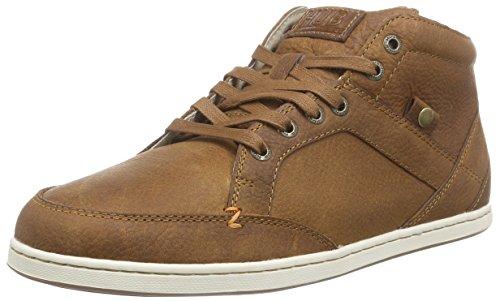 Hub Kingston Merlins - zapatos con cordones de cuero hombre marrón - Braun (Cognac/White 047)