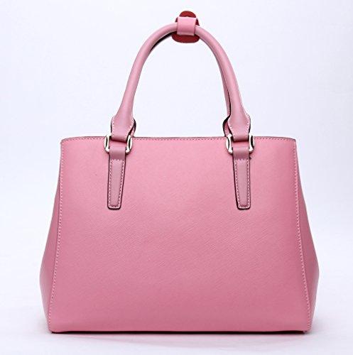 Leather Purse pink Cluci Ladies Crossbody Shoulder Designer Women Handbags Tote for Bag Fashion 3 Genuine 6RntH