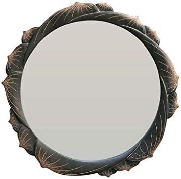 レトロな樹脂ボーダー浴室鏡壁掛けリビングルームポーチの壁装飾鏡 JZ02/26