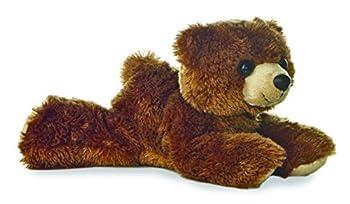 "Aurora Plush Barnsworth Bear Flopsie Plush, Brown, 8"" 0"
