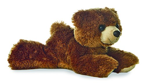 Brown Plush Bear (Aurora Plush Barnsworth Bear Flopsie Plush, Brown, 8