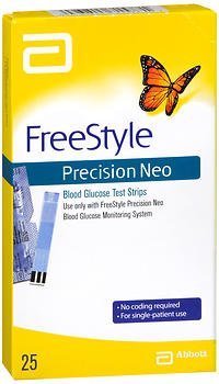 FreeStyle Precision Neo Blood Glucose Test Strips - 25 ct...