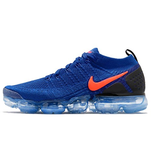 black NIKE Men's Crimson Total Blue Blue Black Crimson Total Flyknit Racer Racer Air Vapormax 2 6qfRT6x