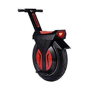 "LQQ Lectric Unicycle Elettrico Monociclo Nero, Monociclo Motorino con Bluetooth Speaker, Unisex Adulto, 17"" 60V / 500W Monoruota Carriola Skateboard Single Electric (Size : 30KM)"