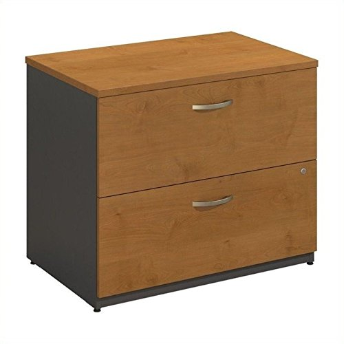 - Bush Furniture Series C 2 Drawer Lateral Wood File Cabinet in Natural Cherry
