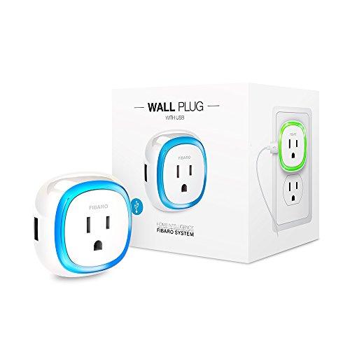 FIBARO Z-Wave Plus Wall Plug with USB Charging Port FGWPB-12