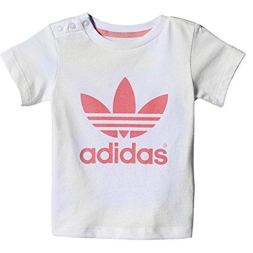 Adidas Originals Adicolor BEBÉ Trefoil Camiseta NIÑO Informal Camiseta Blanca Rosa: Amazon.es: Ropa y accesorios
