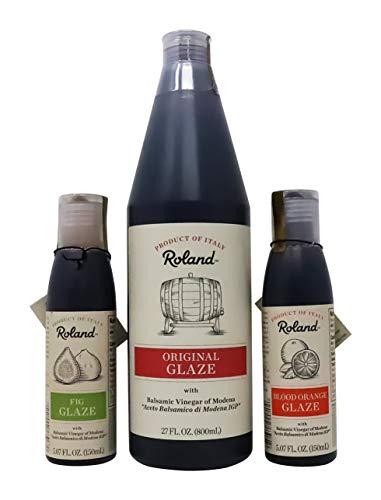 (Roland Foods Balsamic Original Glaze, Blood Orange, Fig Glaze,Meat Marinade 3 Pack)