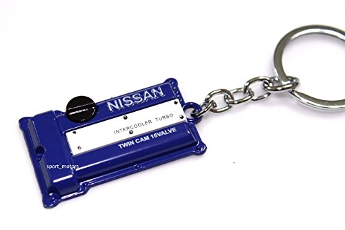 (Nissan SR20DET Style Silvia S13 S14 S15 Engine Valve Cover Keychain (Blue))