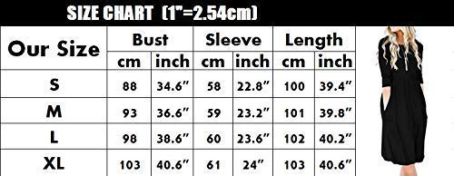Womens Pleated Long Midi Casual Dress Flared Swing Dress Black Sleeve with Waist Loose Empire Pockets Imysty T50qwdn8q