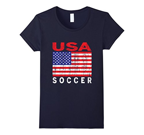Womens Usa Soccer  Us Flag  Us Soccer T Shirt Medium Navy