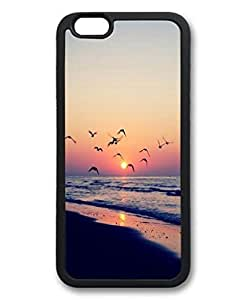 Beach Sunset Shore Birds Protective Soft & Smooth TPU Back Fits Cover Case for iphone 6 Plus 5.5-1122017