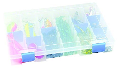 Flambeau 4007 Tuff Tainer See-Through Storage Box, 6 Fixed Compartments, 10 Zerust Dividers