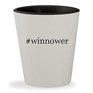 #winnower - Hashtag White Outer & Black Inner Ceramic 1.5oz Shot Glass