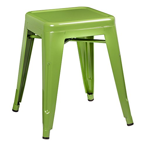 (Norwood Commercial Furniture Tolix Style Metal Industrial Stack Stool, Green, NOR-IAH3021-GR-SO (Pack of)
