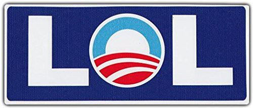 Anti Barack Obama Bumper Stickers (Bumper Stickers: LOL Laughing Out Loud Anti Barack Obama Democrat Republican)
