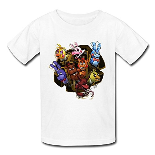 Price comparison product image Kid's Geek Five Nights At Freddy T-shirts Size L White By Mjensen