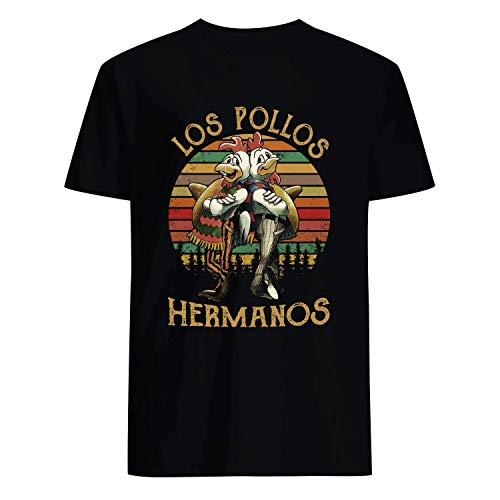 USA 80s TEE Los Pollos Hermanos Shirt Black]()