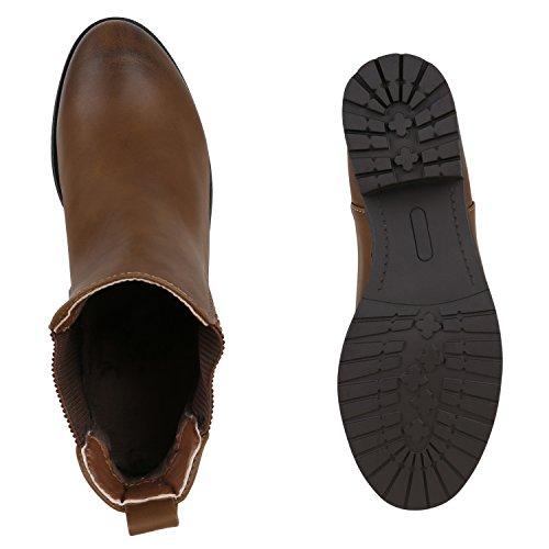 Stiefelparadies - Botas Chelsea Mujer marrón claro