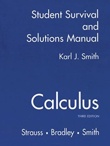 student solutions manual for calculus karl j smith gerald l rh amazon com