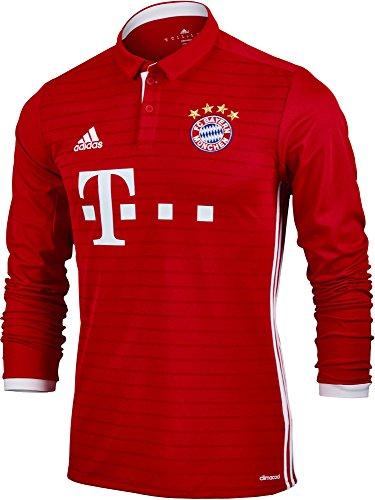 (adidas FC Bayern Munich Home Long Sleeve Jersey (XS) Red)