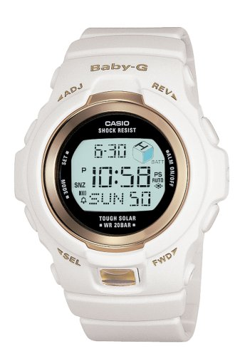 Casio Women's BGR300-7 Baby-G White Tough Solar Power Digital Watch ()