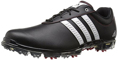 adidas Men's Adipure Flex Golf Shoe, Black/White/Power Red, 11.5 M US (Adidas Adipure Leather)