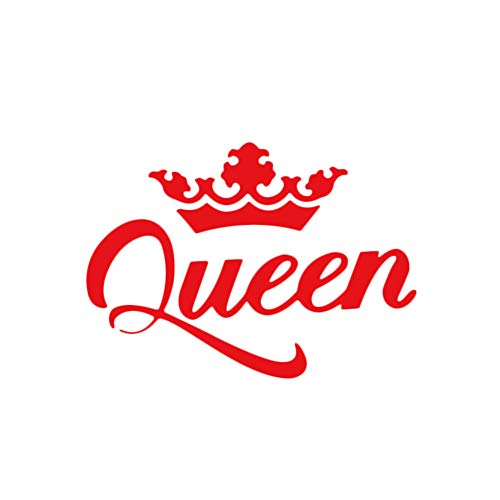 Floralby Car Stickers, Queen Crown Vehicle Body Window Decals Reflective Sticker Decoration