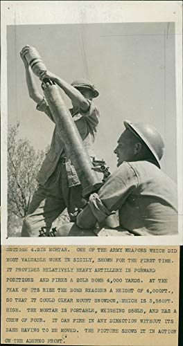 - Vintage photo of guns mortar:british 4.2in mortar. one of the army weapons which did most valuable work in sicily.